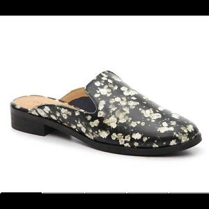 lucky brand slide NWB floral black shoes